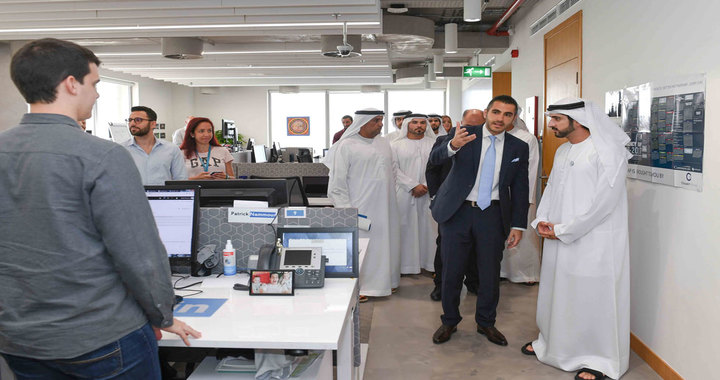 Sheikh Hamdan bin Mohammed visits LinkedIn's regional headquarters in Dubai