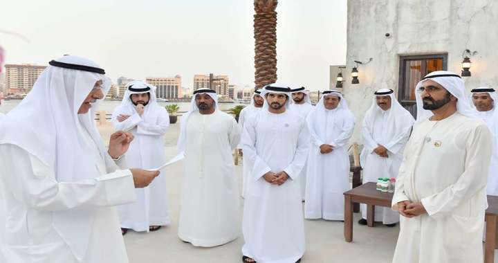 Sheikh Mohammed welcomes Heads of Government Departments