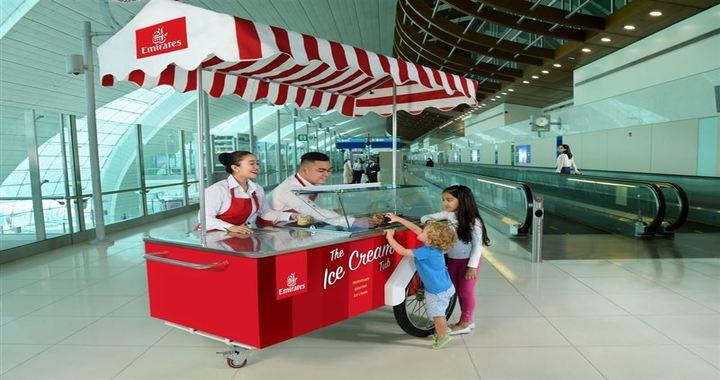 Emirates Airline Offers Free Ice Cream at Dubai International Airport