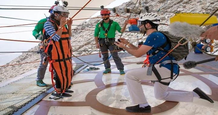 India Couple got Engaged at Jebel Jais Zipline, Ras Al Khaimah
