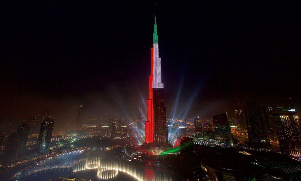 Thats's how much it prices to induce your ad to illuminate at Burj Khalifa