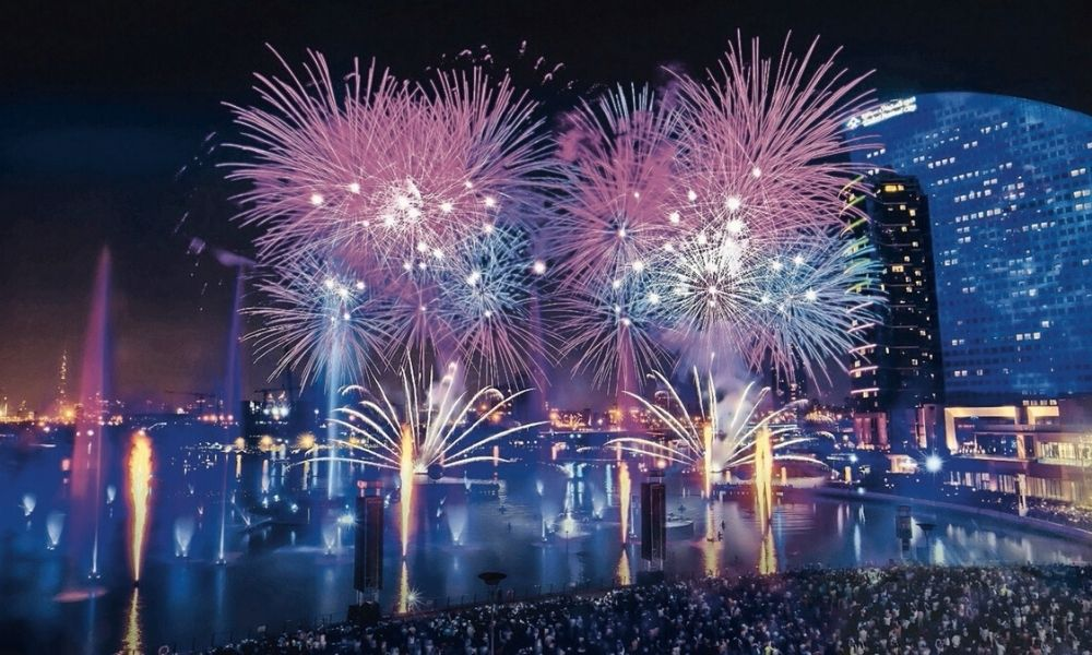 Dubai fitness challenge fireworks 2019