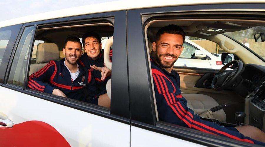 Arsenal Players Visits Desert Safari in Dubai