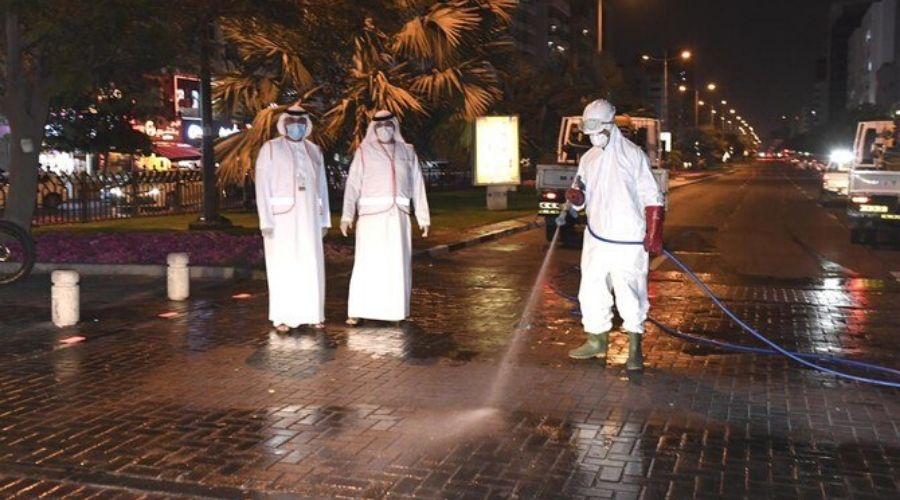 Coronavirus clean-up operation in Dubai on full scale